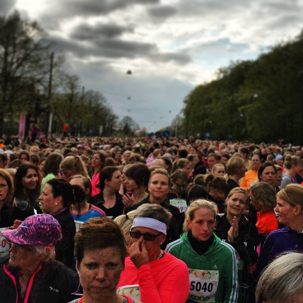 Vårruset i Malmö, bara minuten kvar till start