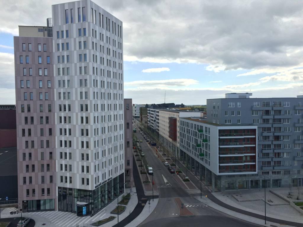 Utsikt mot Emporia Malmömässan