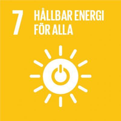 Ikon för FN:s globala mål nr 7.
