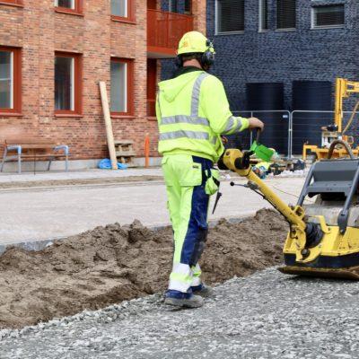 markarbete Västa hamnen Malmö
