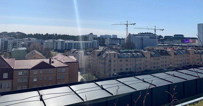 Utsikt från NCC:s huvudkontor i Solna.