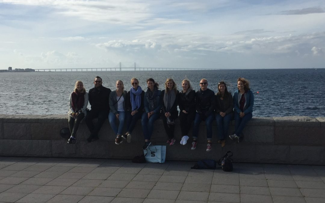 Traineer på studiebesök i Skåne