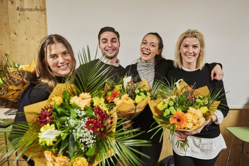 From the left: Jessica Schering (industriell ekonomi); Abraham Elias Daoud (byggteknik och design); Nicole Ferreira (samhällsbyggnad, byggprojektledning); Åsa Östman (samhällsbyggnad, byggprojektledning)